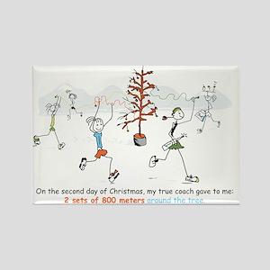 runners_around_christmas_tree1 Rectangle Magnet