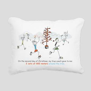 runners_around_christmas Rectangular Canvas Pillow