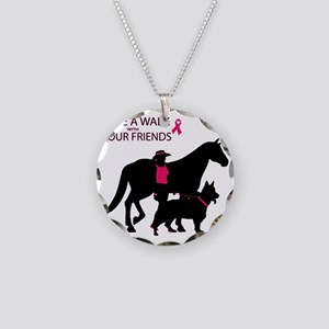 AwalkWithFriends Necklace Circle Charm