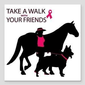 """AwalkWithFriends Square Car Magnet 3"""" x 3"""""""