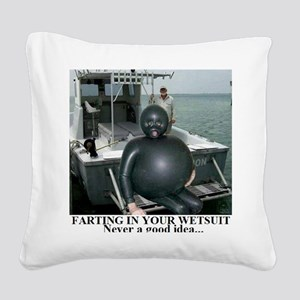 FARTING1 Square Canvas Pillow