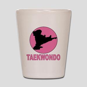 girs taekwondo Shot Glass