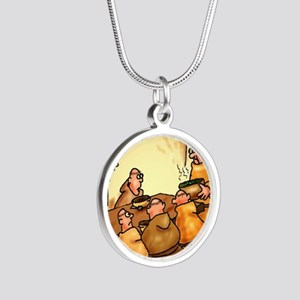 mendelspeas Silver Round Necklace