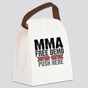 MMA shirts - free demo, push here Canvas Lunch Bag