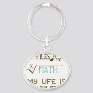 Math and Music Oval Keychain