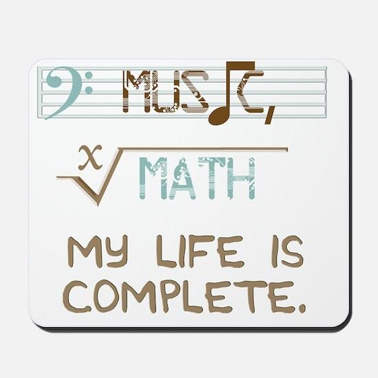 Math and Music Mousepad
