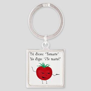 Tomate, Te mato Square Keychain