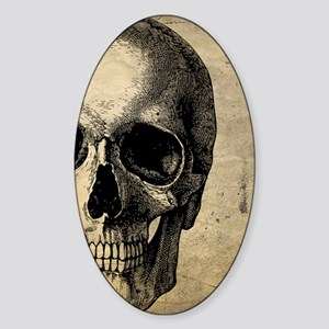 OldSkull_ipad Sticker (Oval)