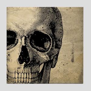 OldSkull_ipad Tile Coaster