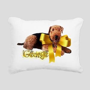 gold ribbon george cente Rectangular Canvas Pillow