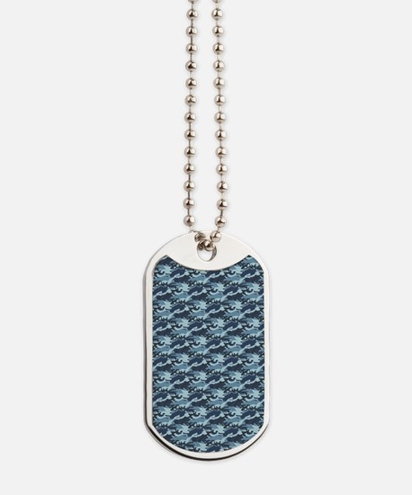 Blue Camouflage Dog Tags