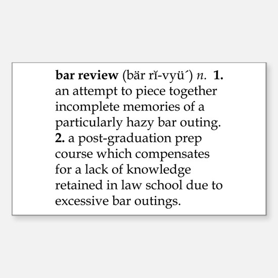 Bar Review Decal