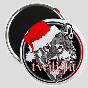 twilight Christmas wolf 2 copy Magnet