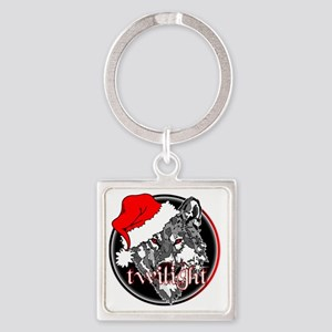 twilight Christmas wolf 2 copy Square Keychain