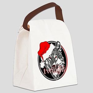 twilight Christmas wolf 2 copy Canvas Lunch Bag