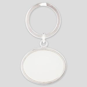 backinblk Oval Keychain