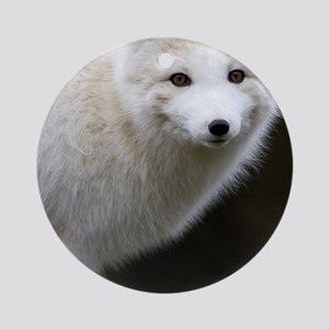 Artic Fox Round Ornament