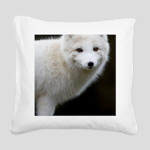 Artic Fox Square Canvas Pillow