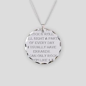 rocknroll Necklace Circle Charm