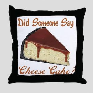 cheese cake Throw Pillow