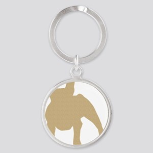French Bulldog Round Keychain