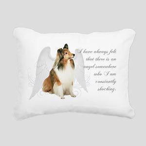 SheltieAngel Rectangular Canvas Pillow