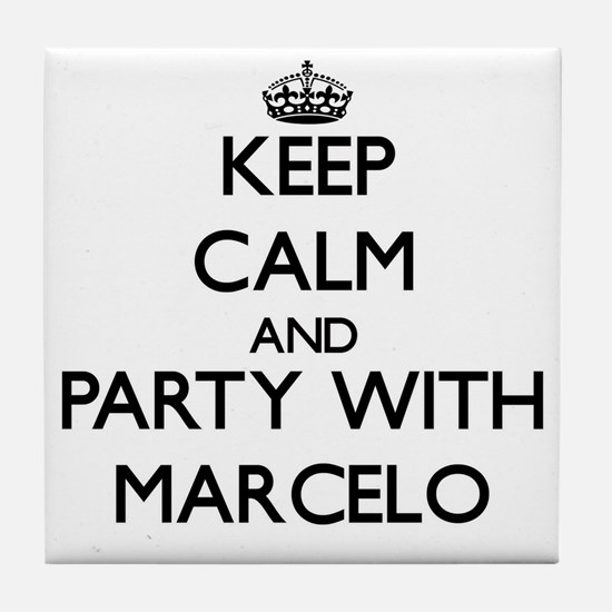 Keep Calm and Party with Marcelo Tile Coaster