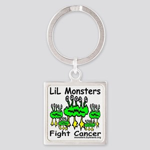 LiL_monsters_fight_cancer_print Square Keychain