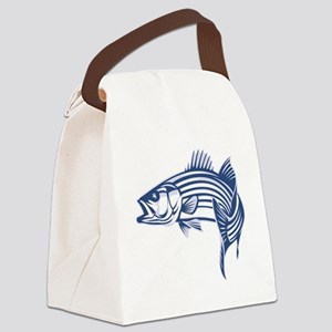 striper Canvas Lunch Bag