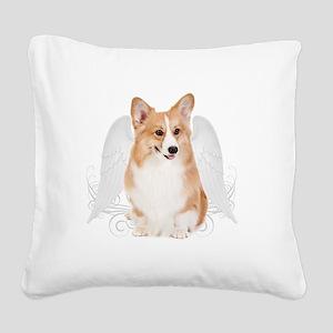 AngelPembrokeTile Square Canvas Pillow