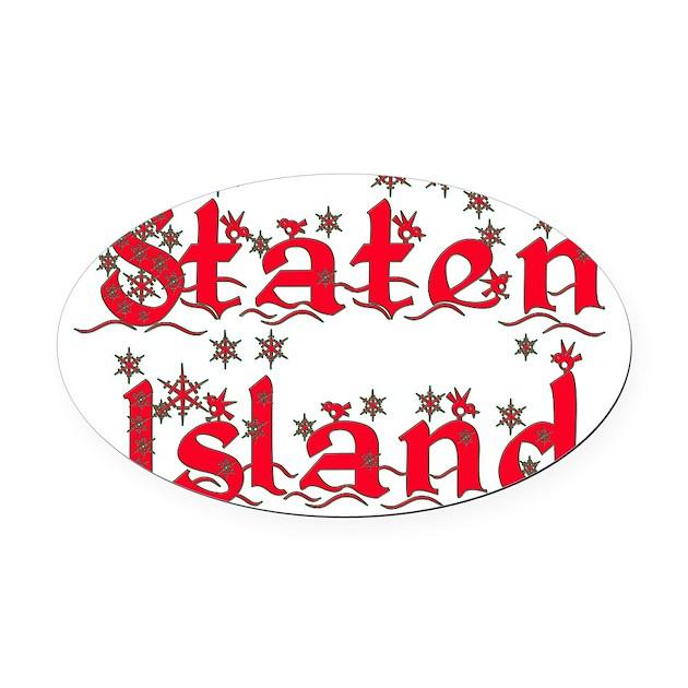 Brooklyn Staten Island Car: Staten_island_xmas Oval Car Magnet By Admin_CP83163