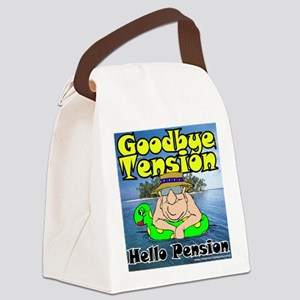Goodbye Tension T-Shirt Canvas Lunch Bag
