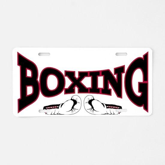 boxing2 Aluminum License Plate