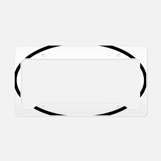 Tri Oval logo License Plate Holder