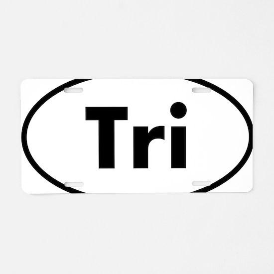 Tri Oval logo Aluminum License Plate