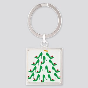 shoe-tree_dark Square Keychain