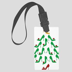 shoe-tree_dark Large Luggage Tag