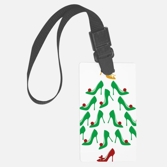 shoe-tree_dark Large Luggage Tag