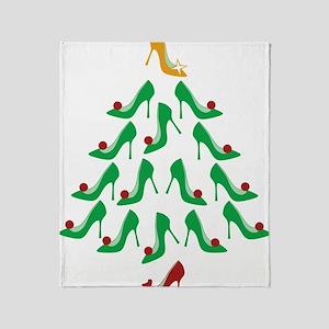 shoe-tree_dark Throw Blanket