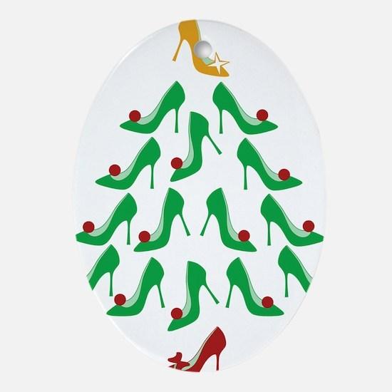 shoe-tree_dark Oval Ornament