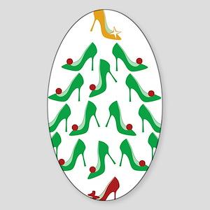 shoe-tree_dark Sticker (Oval)