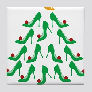 shoe-tree_dark Tile Coaster