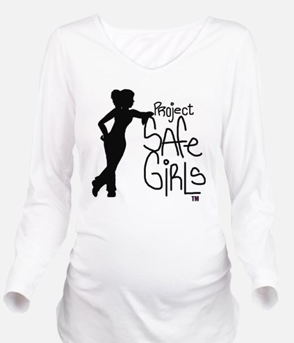 PROJECT SAFE GIRLS L Long Sleeve Maternity T-Shirt