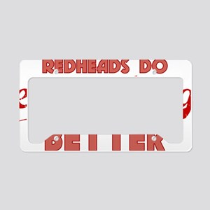 redheads_everything_RED License Plate Holder