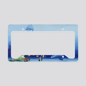 Three Friends Dolphins License Plate Holder