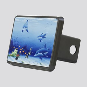 Three Friends Dolphins Rectangular Hitch Cover