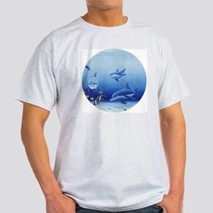 Three Dolphin Friends Light T-Shirt