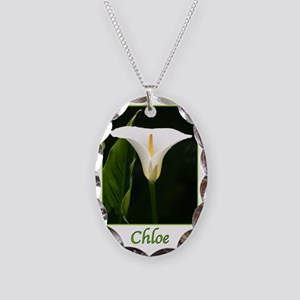 ChloeCalaLily Necklace Oval Charm