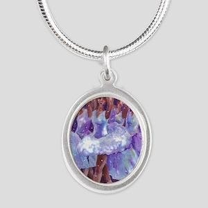 nutcdance sq Silver Oval Necklace