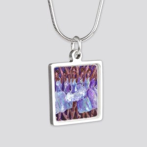 nutcdance sq Silver Square Necklace